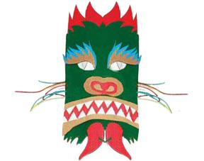 Bricolage Enfant Un Masque De Dragon Chinois à Fabriquer