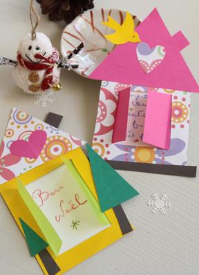 Carte De Noel A Confectionner.Activité Bricolage Des Cartes De Vœux Faciles à Faire Avec