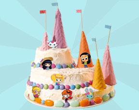 Un Gâteau Danniversaire Pour Les Princesses