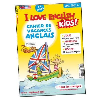 I Love English for Kids Cahier de vacances Anglais
