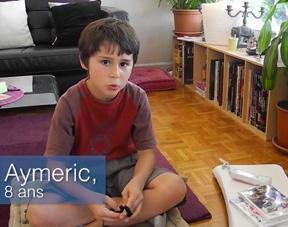 Voir les témoignages d'Eva, d'Aymeric, 8 ans, et Adam, 11 ans sur le temps de jeu vidéo