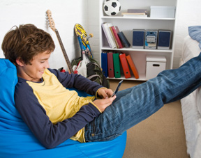 Vraie vie collège adolescents téléphone