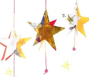 Guirlande de no l des toiles pour le sapin faire avec - Decoration de noel a faire avec les enfants ...