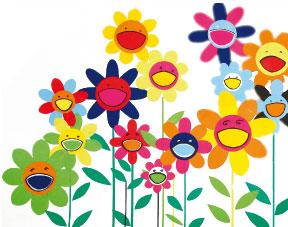Bricolage pour enfant des fleurs kawa la mani re de - Dessin de fleur en couleur ...