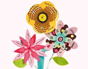 Fleurs en papier comment fabriquer un bouquet avec les for Livraison fleurs avec message
