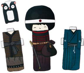 Bricolage: des kokeshis à découper et habiller