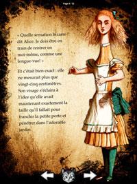 Alice sur l'iPad